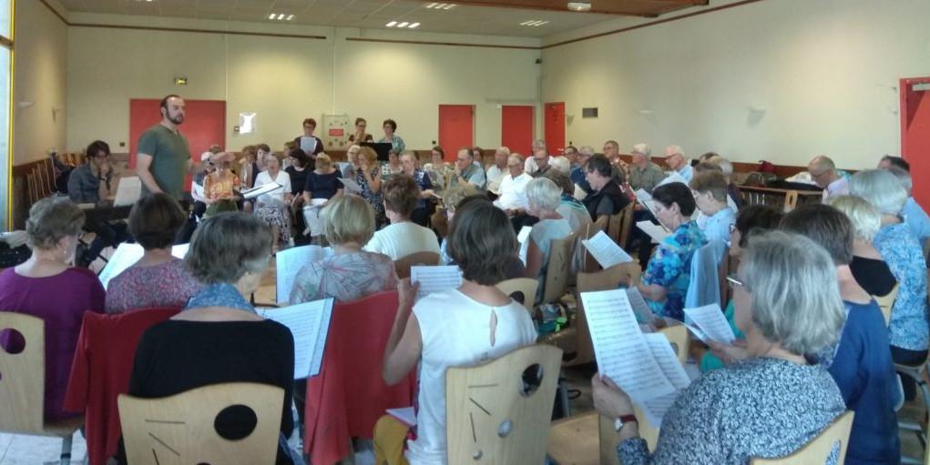 Chorale Cysoing en Chœur -  Répétition à Arras avec « LA CANTARELLA » – travail du MAGNIFICAT d'ARNESEN